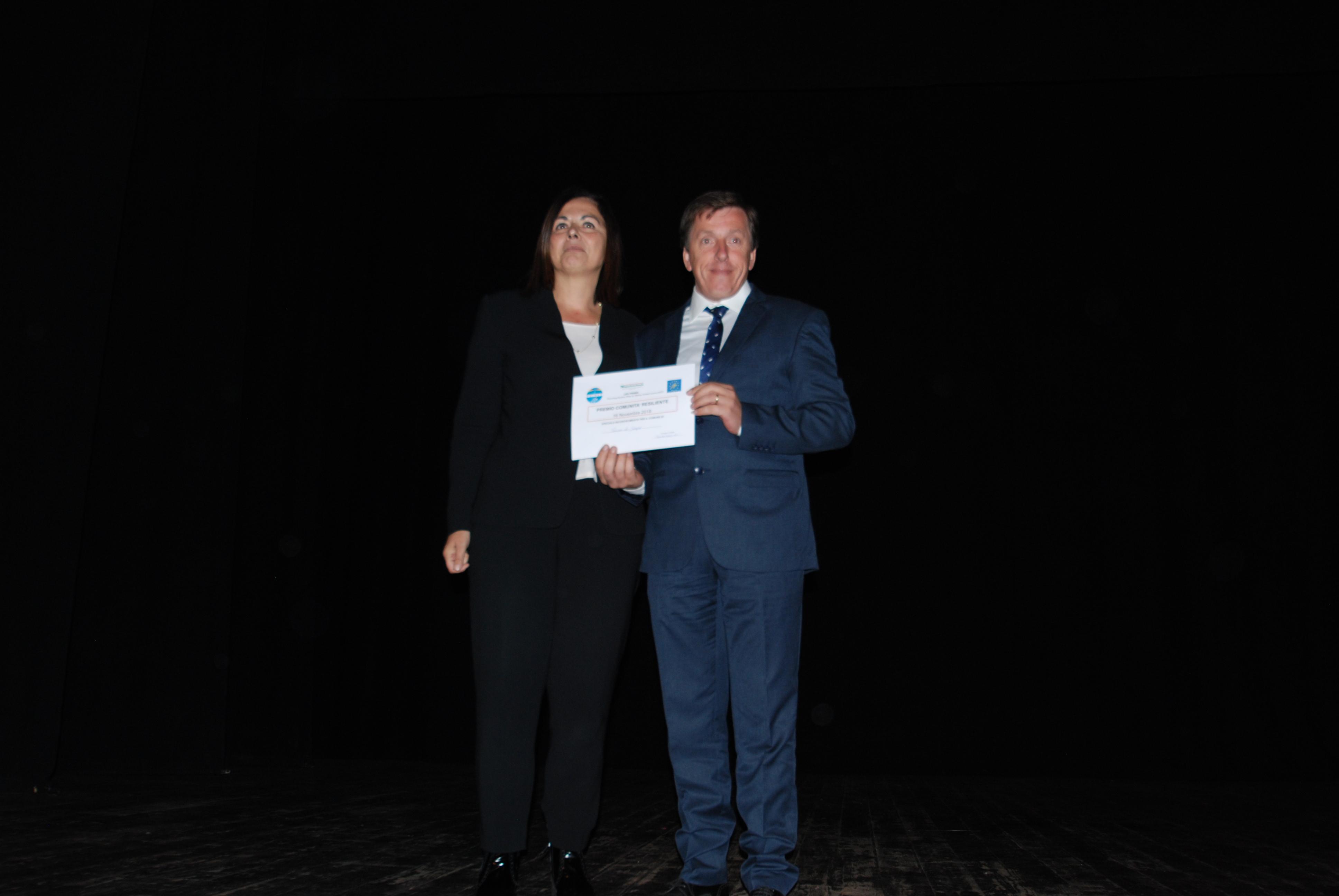Assessore Gazzolo premia Sindaco Torino di Sangro